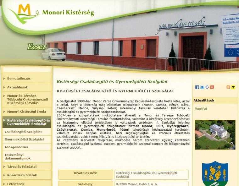 Monori kistérség honlapja