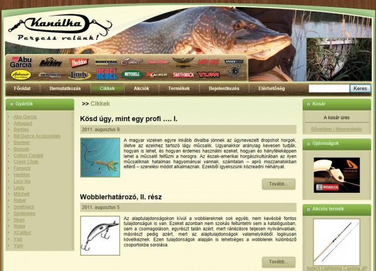 Horgász webáruház