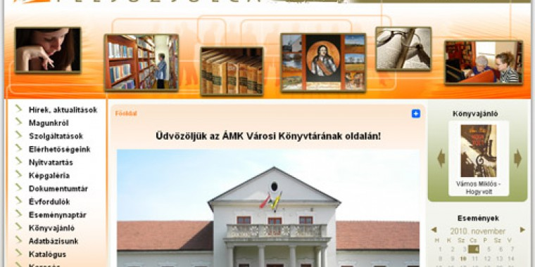 Felsőzsolcai könyvtár honlapja