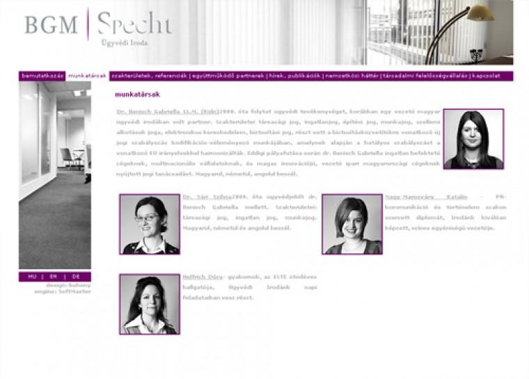 Benisch ügyvédi iroda honlapja