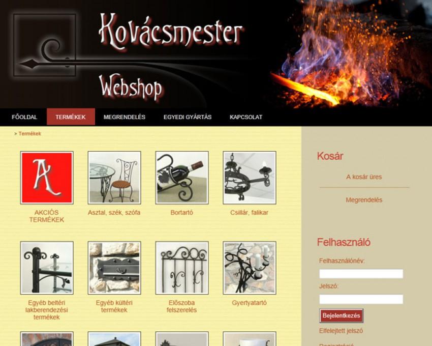 Kovácsmester webáruház