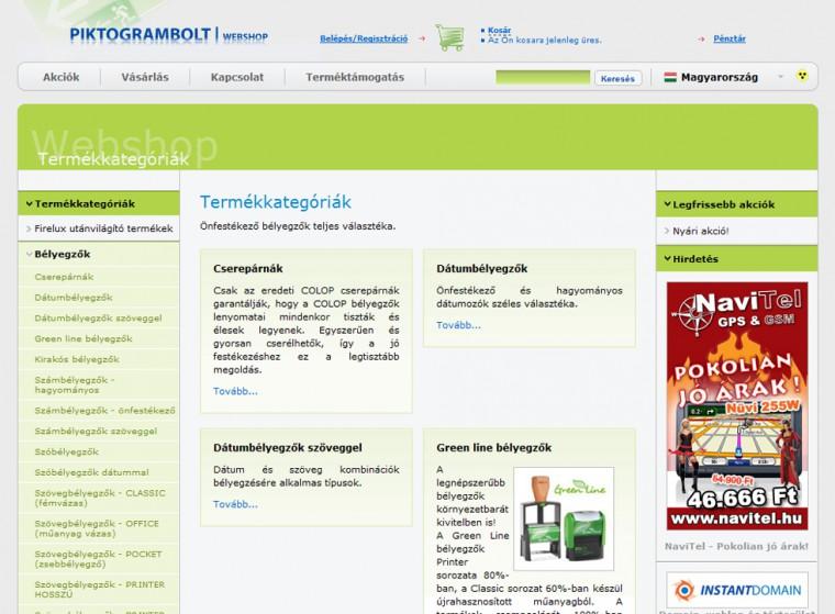 Piktogrambolt webáruház
